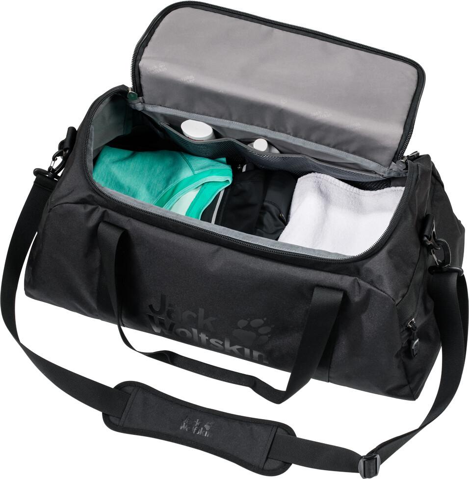 jack wolfskin action bag 45 reisbagage zwart